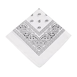 Boolavard TM Ursprüngliche Bandanas 100% Baumwolle (White)