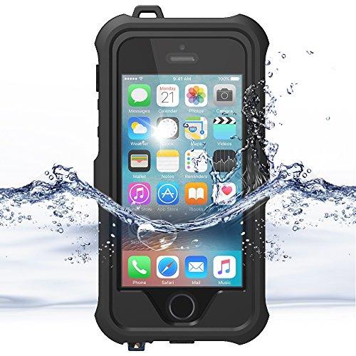 iPhone 6S Hülle,iPhone 6 Case, ZVE® Ganzkörper Outdoor Staubdicht Schneedicht Stoßfest Wasserdicht Schutzhülle Tasche Bumper Cover Case mit Displayschutz für iPhone 6/6s 4.7 zoll schwarz Schwarz