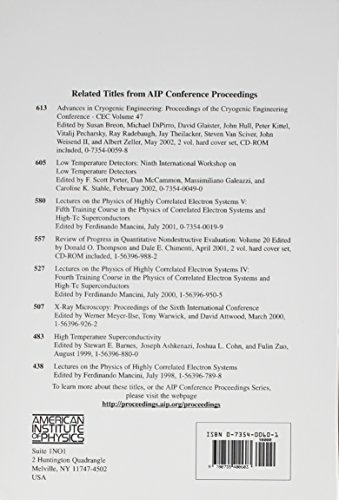 Advances in Cryogenic Engineering: Proceedings of the International Cryogenic Materials Conference - ICMC, Volume 48, Madison, Wisconsin, USA 16-20, July 2001 (AIP Conference Proceedings)