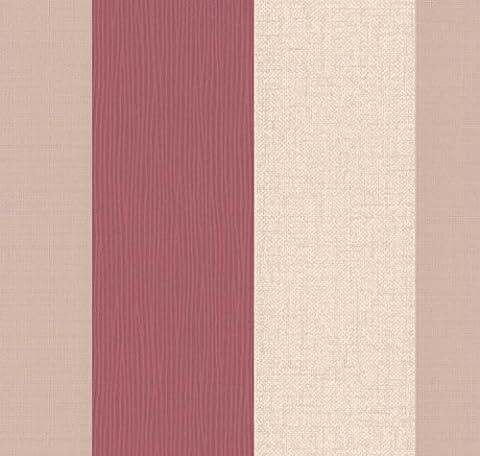 Superfresco Java Stripe Textured Red Wallpaper 18944