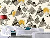 Fototapete 3D Wandbilder Moderne Moderne Elegante Handbemalte Geometrische Figur Hintergrund Mauer