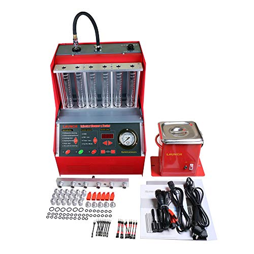 WANGYONGQI Auto Fu-EL Injektor Reinigungsmaschine Ultrasonic Fuel Injector Cleaner Tester Waschwerkzeug 6 Zylinder
