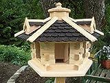 Vogelhaus Vogelhäuser Vogelfutterhaus Vogelhäuschen-aus Holz-DHL-Schreinerarbeit-Gaube Schwarz Groß