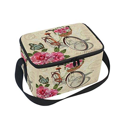 DOSHINE Animal Papillon Fleur Sac à Lunch Box de Vélo, Glace Isotherme Lunch Tote Sac Réutilisable pour Homme Femme Adulte Enfants Garçons Filles