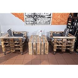 Palettenmöbel, Gartenmöbel aus Europaletten, Sitzgruppe