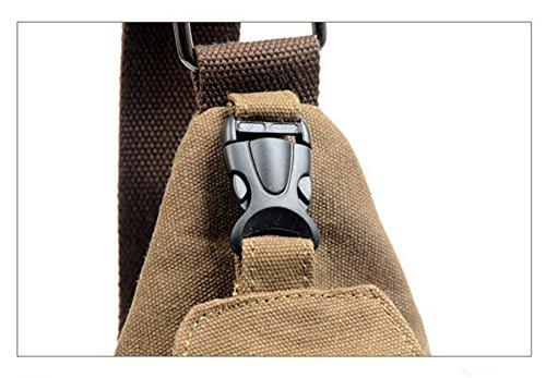 Outdoor-Tasche Crossbody Tasche eine Umhängetasche Brust Schultertasche Braun