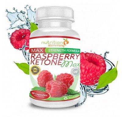 Raspberry Ketone Max (1 mois) - cétone framboise Nutrition Slimming - le supplément de perte de poids qui contribue à rajeunir tandis que la combustion des graisses, plus puissant vendu en Francee - forte concentration de pur Frambuesas- cétone extrait 100% naturel - certificats d'efficacité, de qualité et de sécurité pour -convient végétaliens et les végétariens - 60 gélules -