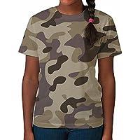 T shirt da bambina a stampa intera Camouflage – Vestiti / Top estivi stampati da (Army Camouflage Pattern)