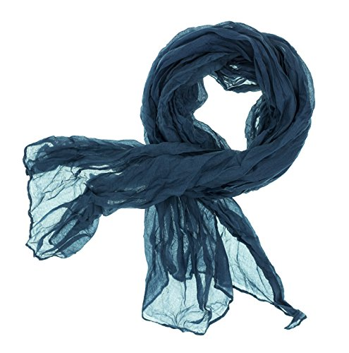 DOLCE ABBRACCIO CRAZY MAMA Damen Schal Halstuch Tuch Damenschal aus Baumwolle MASH Schals Ganzjährig Frühling Sommer (Petrol)