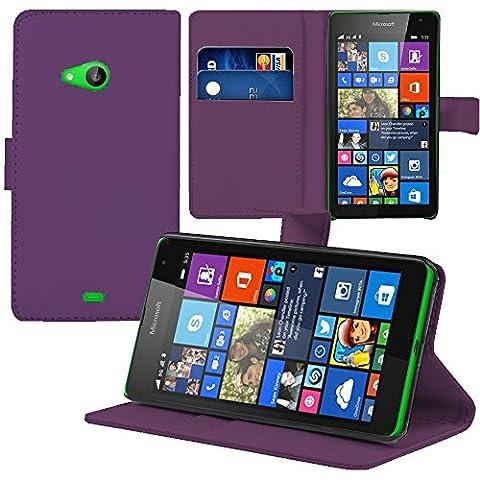 Nokia 535 Dual Sim - VCOMP® Housse Coque Etui portefeuille Support Video