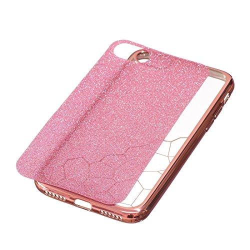 GHC Cases & Covers, Für iPhone 7 Galvanisieren Kleine Würfel TPU Schutzmaßnahmen Rückseiten Fall Fall ( Color : Blue ) Rose gold