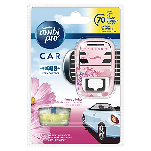 Ambi Pur Car Flowers And Breeze Diffuser And Fragrance For Air Freshener - 7 ml