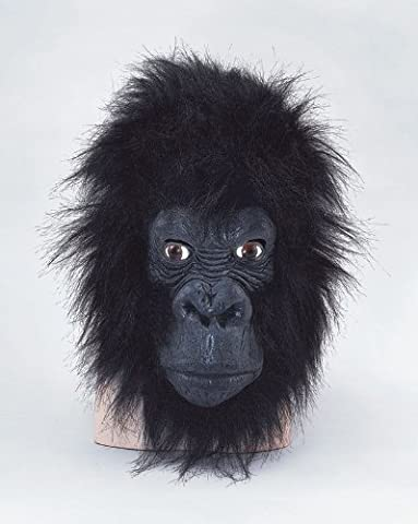 Gorilla Masque bouche fermée King Kong Jungle Animal Singe déguisement Halloween