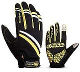Beydodo Handschuhe Winter Warm XL Winterhandschuhe Gelb Herren Handschuhe Touchscreen