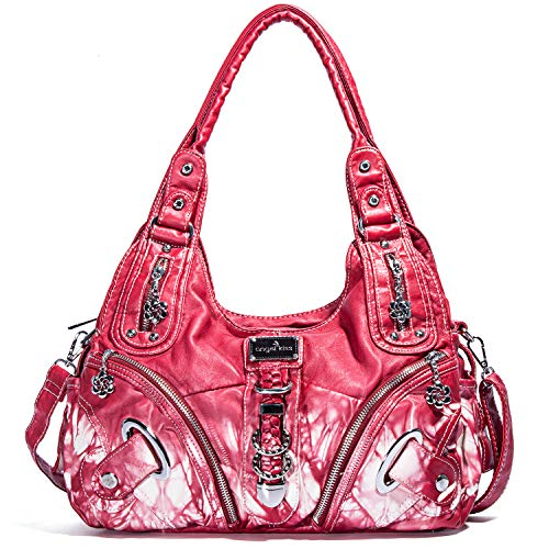 Cuir Lavé Femme11282z Wine Main Kiss Sac À Angel nOwP8X0k