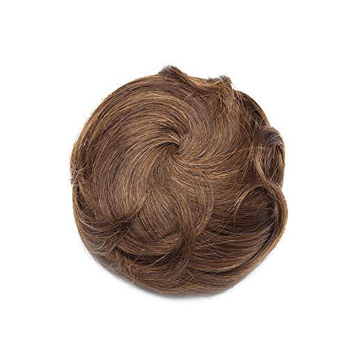 Extension chignon capelli veri clip elastico effetto naturale voluminoso capelli ricci con 2 clips magic hair bun coda updo crocchia 30g #4 marrone cioccolato