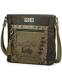 1ff597bd5 Lois - 95151 Bolso de Mujer Bandolera Ajustable. Bolsillos Delante y detrás  con Cremallera.