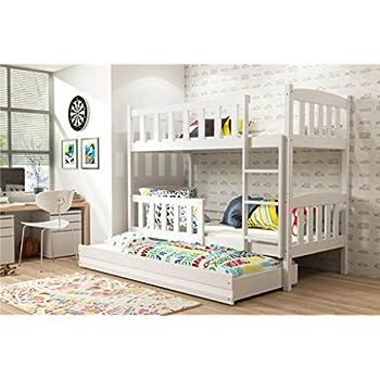 90x200 kinder etagenbett wei grau mit bettkasten treppe und gel nder k che haushalt. Black Bedroom Furniture Sets. Home Design Ideas