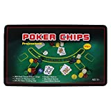 #3: Casino Poker Set With 300 Poker Chips, Playing Cards, Gaming Mat In Tin Box