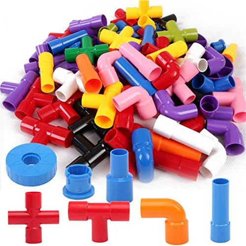 GZQ 72 pcs Bloques de Construcción de Montar Tubos,, Juegos de Bloques,Juguetes Creativos y Educativos para Niños Más de 3 Años