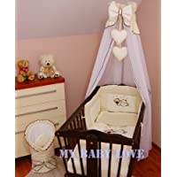 Baldacchino drappo con free standing holder- to fit Baby culla