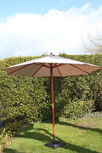 olive-grove-3m-wide-garden-parasol-umbrella-in-mushroom-brown