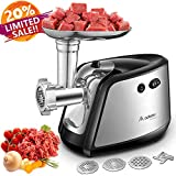 Aobosi Electric Meat Grinder, Meat Mincer & Sausage Stuffer with 3 Stainless Steel