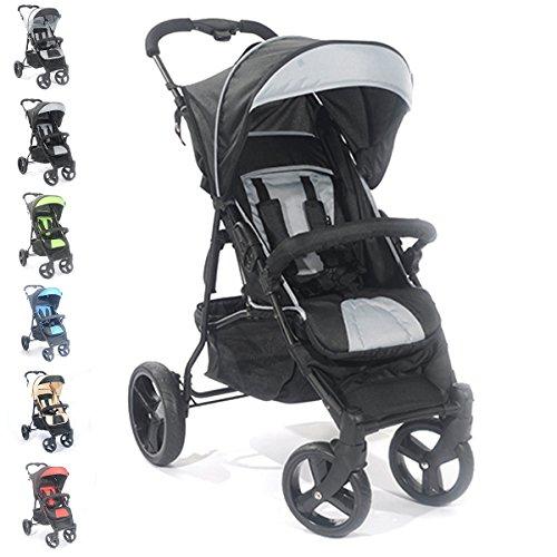 Buggy S8 Jogger Kinderwagen Baby Sportwagen Babywagen (Schwarz)