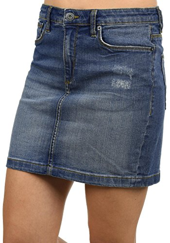 Blendshe adria gonna corta da donna elasticizzato, taglia:m, colore:dark blue washed (29053)