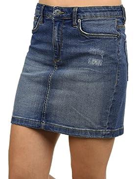 BlendShe Adria Falda Minifalda Falda Tejana para Mujer Elástica