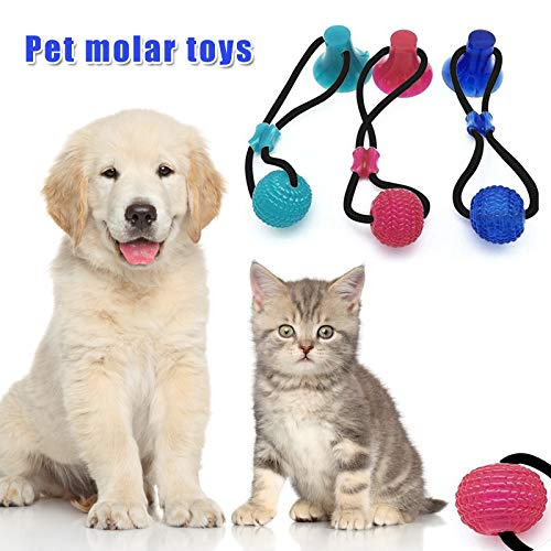 SSUK Durable Dog Tug Rope Ball Toy with Suction Cup