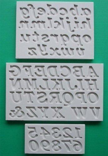 Stampi con Lettere dell'Alfabeto per Decorazione Torte e Cupcake Set Completo di Lettere Vecchio Stile - Stile Delle Lettere Set