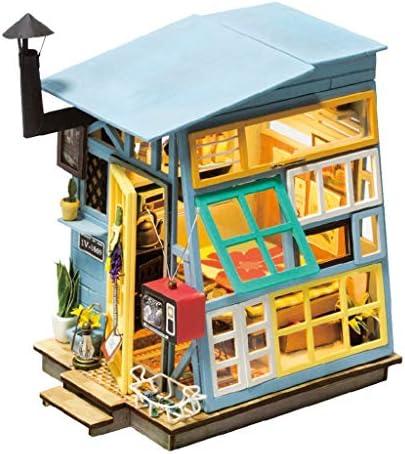 Bricolage en Bois Mini kit de Maison de jouet/3D Puzzle Bulle en Bois-modèle kit de Construction/avec LED librairie/Cadeau d'anniversaire Cadeau | Approvisionnement Suffisant Et Une Livraison Rapide
