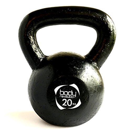 Body Revolution Cast Iron Kettlebell - Strength Training Home Gym Equipment (20 KG)