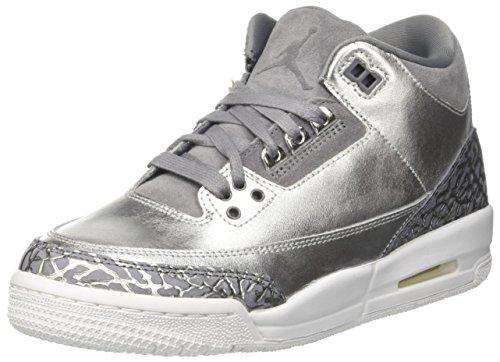 Nike Jungen Air Jordan 3 Retro Prem HC Basketballschuhe, Silber (Metallic Silvercool GreyWhite), 39 EU