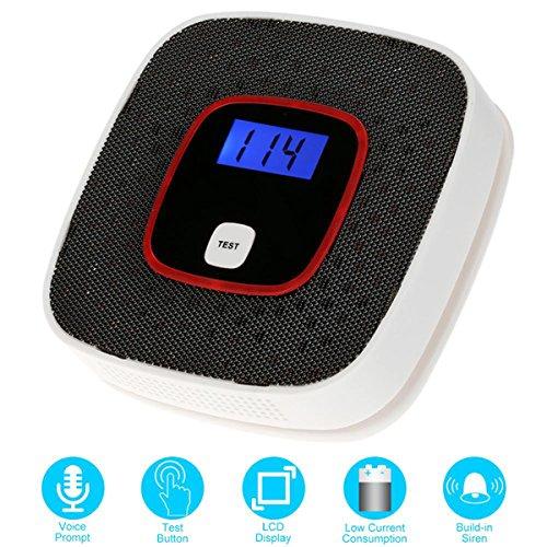 Kohlenmonoxid Warnmelder CO Melder mit Digitaler Anzeige,Batteriebetrieben,Kabelloser Höchst Sensible in der Erkennung von Kohlenmonoxid Lecks in Ihrem Haus (1Pack)