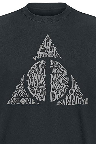 Harry Potter Symbol T-Shirt Schwarz Schwarz