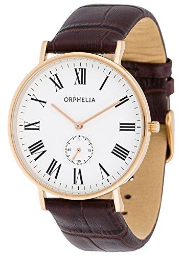 Orphelia Herren-Armbanduhr Charming Analog Quarz Leder -