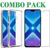 AONIR Tempered Glass & Bumper Transparent Back Cover_Combo Pack_ Premium Quality Screen Guard And Soft Case Cover For Huawei Honor 8X