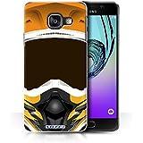 Coque de Stuff4 / Coque pour Samsung Galaxy A3 (2016) / Motocross/Orange Design / Casque Moto Collection