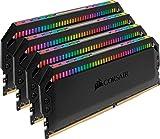 Corsair Dominator Platinum RGB - Kit de Memoria 32 GB (4x8 GB) DDR4 3600 MHz C18, con Iluminación LED RGB, Negro