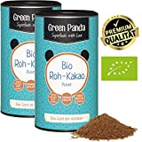 Rohkakaopulver BIO aus Premium Kakaobohnen, Bio Kakaopulver ohne Zucker und entölt, 28 g Protein, laborgeprüft und zertifiziert, Doppelpack 2x 125 g