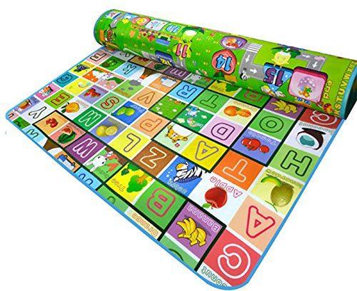 CRAVOG grande tappeto impermeabile per i bambini multicolor