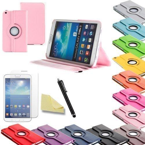 3in1 SET Tab3 8.0 360° Schutzhülle + Folie + Pen Samsung Galaxy Tab 3 8.0 SM-T310 T311 T315 Tasche Etui (Rosa)