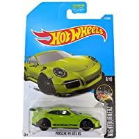 Hot Wheels Porsche 911 GT3 RS Green - Nightburnerz 117/365 (long card)