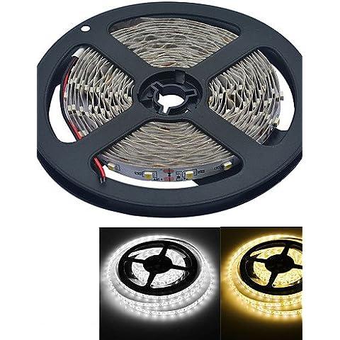 XMQC*5M 300-3528 2000LM 3000-3200K/6000-6500K /blanca cálida luz blanca Lámpara LED Tira Flexible (DC12V /5M) , Cool