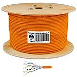 250m cat 7 HB Digital Basic Netzwerkkabel LAN Verlegekabel cabel Kupfer PROFI S/FTP PIMF LSZH Halogenfrei orange RoHS-compliant cat. 7