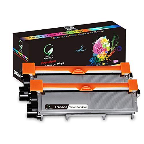 Gootior TN2320 Kit 2 Toner Compatibili per Brother HL-L2300D HL-L2340DW HL-L2360DN HL-L2365DW DCP-L2500D DCP-L2520DW DCP-L2540DN DCP-L2560DW MFC-L2700DW MFC-L2720DW MFC-L2740DW
