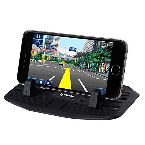 [Neue Version] Ipow® Universal Silikon Handyhalterung Antirutschmatte Auto & Haus Doppelzweck Handy Halterung Ständer für Smartphone wie iPhone 7 7 Plus 6s 6 5 4 Samsung Galaxy S7 S6 S5 S4, Mit 2 Größe Halterteile