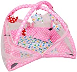 #7: Deals Outlet Baby Kick and Play Gym with Mosquito Net and Baby Bedding Set (Pink)